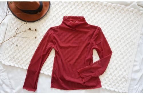 """Блуза от прозрачен материал в червено - """"CARMEN"""""""