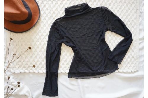"""Блуза от прозрачен материал в черно - """"CARMEN"""""""