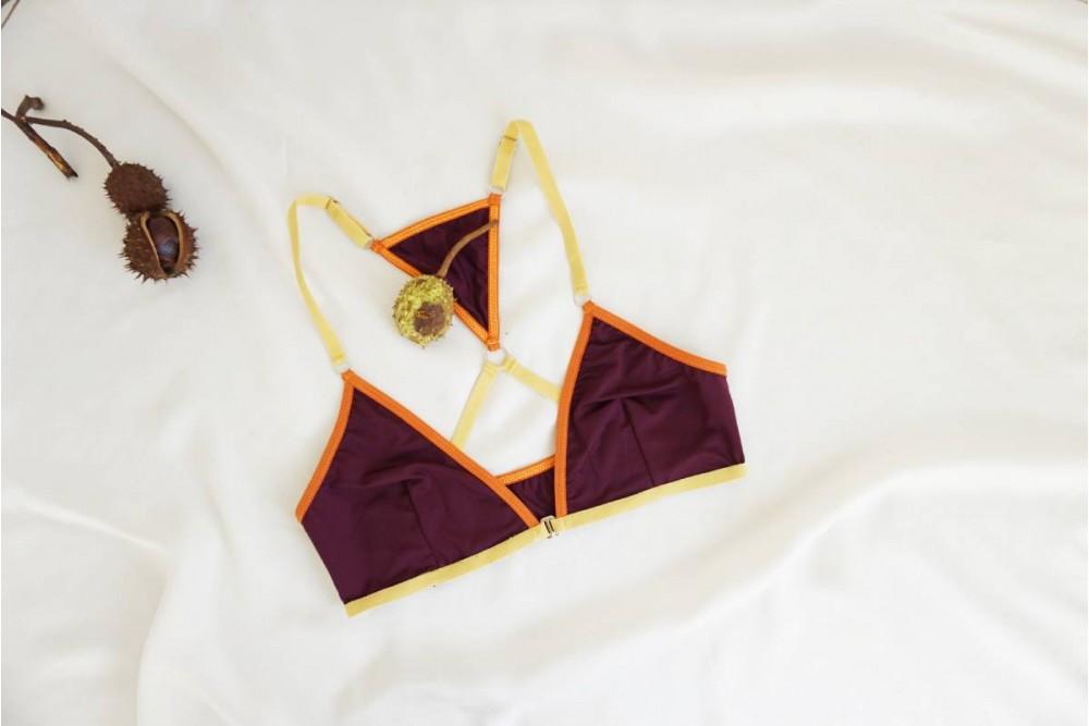 """Бралет с предно закопчаване и триъгълен елемент при гърба - """"ANAKIN"""""""